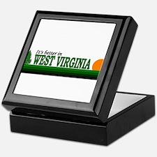 Cute West virginia mountaineers Keepsake Box