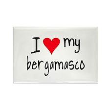 I LOVE MY Bergamasco Rectangle Magnet