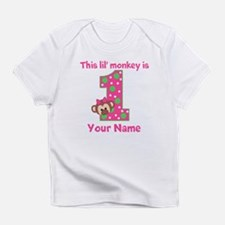 1st Birthday Monkey Girl Infant T-Shirt