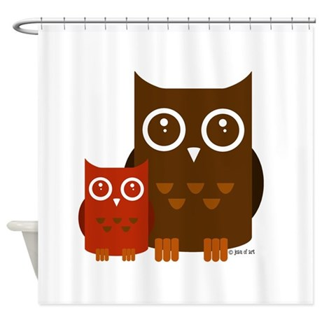 Cute Owls Shower Curtain By Justjoani
