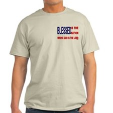 Blessed is the Nation 2 Side Light Men's T-Shirt