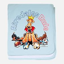Airedales Rule baby blanket