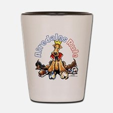 Airedales Rule Shot Glass