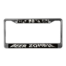 Beer Zombie License Plate Frame