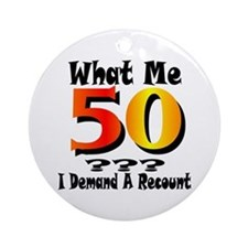 50th Birthday Ornament (Round)