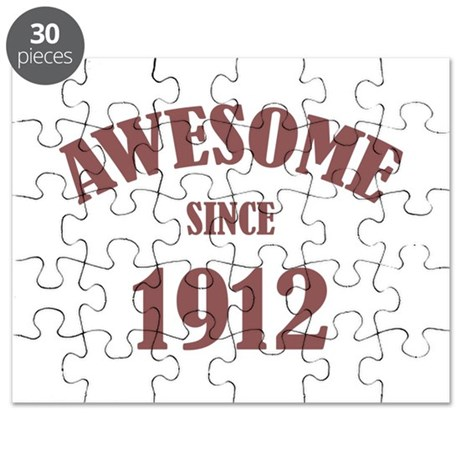 Awesome Since 1912 Puzzle