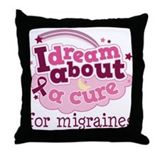 Migraine Cure Dream Throw Pillow