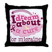 Migraine Cure Dream Throw Pillow