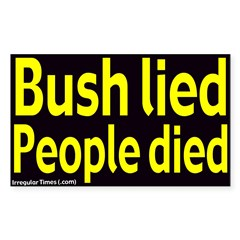 Bush Lied People Died Decal