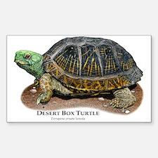 Desert Box Turtle Sticker (Rectangle)