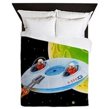 X-200 FLYING SAUCER Queen Duvet