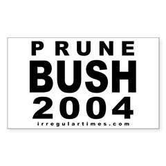 Prune Bush Bike Rectangle Decal