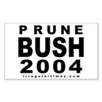 Prune Bush Bike Rectangle Sticker