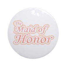 Maid of Honor Extravaganza Ornament (Round)