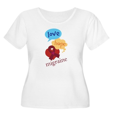 Love Hope Migraine Women's Plus Size Scoop Neck T-