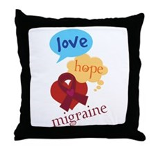 Love Hope Migraine Throw Pillow