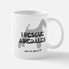 I RESCUE Airedales Mug