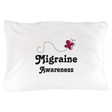 Migraine Awareness Butterfly Pillow Case