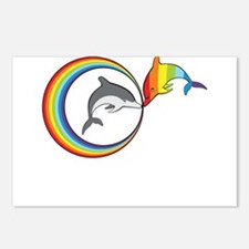 Rainbow Dolphin Postcards (Package of 8)