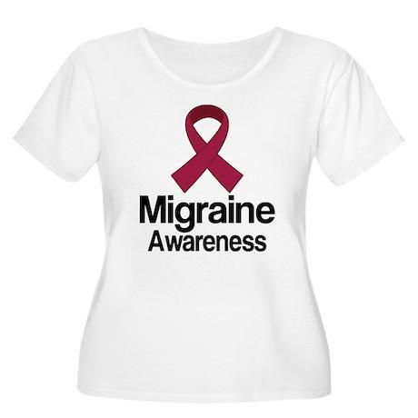 Migraine Awareness Ribbon Women's Plus Size Scoop