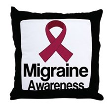 Migraine Awareness Ribbon Throw Pillow