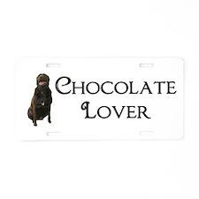 Chocolate Lover Aluminum License Plate