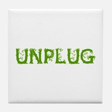 Unplug Tile Coaster