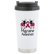 Migraine Awareness Ladybug Travel Mug