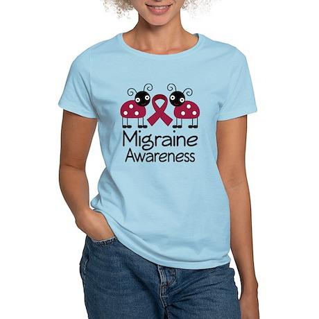 Migraine Awareness Ladybug Women's Light T-Shirt