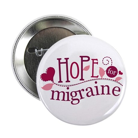 """Hope For Migraine 2.25"""" Button (10 pack)"""