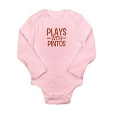 PLAYS Pintos Long Sleeve Infant Bodysuit