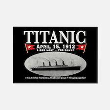 Titanic Ghost Ship (black) Rectangle Magnet