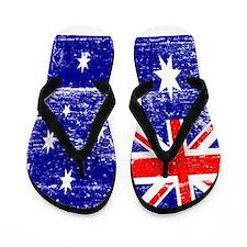Vintage Australian Flag Flip Flops