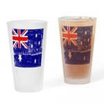 Vintage Australian Flag Drinking Glass