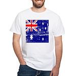 Vintage Australian Flag White T-Shirt