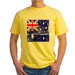 Vintage Australian Flag Yellow T-Shirt