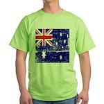 Vintage Australian Flag Green T-Shirt