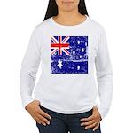 Vintage Australian Flag Women's Long Sleeve T-Shir