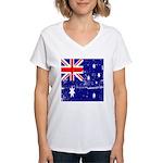 Vintage Australian Flag Women's V-Neck T-Shirt