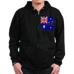 Vintage Australian Flag Zip Hoodie (dark)