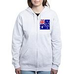 Vintage Australian Flag Women's Zip Hoodie