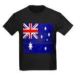 Vintage Australian Flag Kids Dark T-Shirt