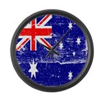 Vintage Australian Flag Large Wall Clock