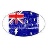 Vintage Australian Flag Sticker (Oval)