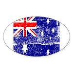 Vintage Australian Flag Sticker (Oval 10 pk)