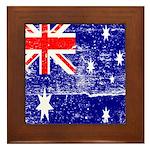 Vintage Australian Flag Framed Tile