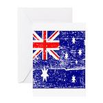 Vintage Australian Flag Greeting Card