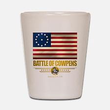 """""""Battle of Cowpens"""" Shot Glass"""