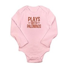 PLAYS Palominos Long Sleeve Infant Bodysuit
