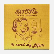 Amy's Ice Cream Retro Art Tile Coaster
